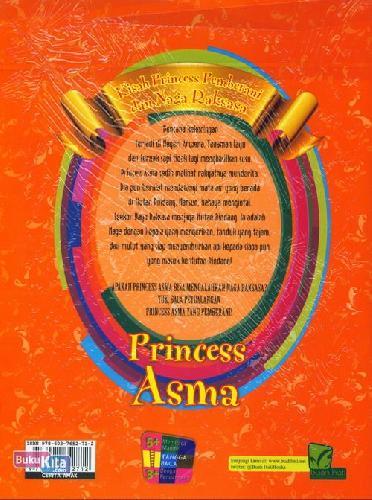 Cover Belakang Buku Princess Asma: Kisah Princess Pemberani&Naga Raksasa