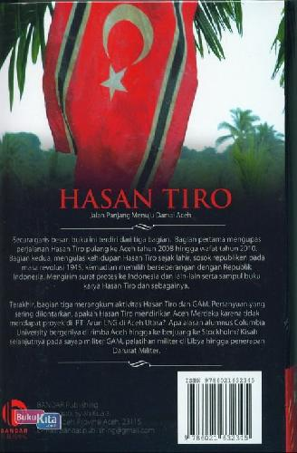 Cover Belakang Buku Hasan Tiro : Jalan Panjang Menuju Damai Aceh