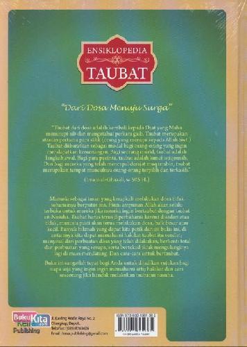 Cover Belakang Buku Ensiklopedia Taubat : Dari Dosa Menuju Surga