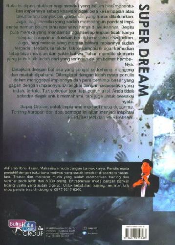Cover Belakang Buku Super Dream : Rahasia Mengolah Impian Menjadi Kenyataan
