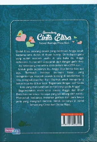 Cover Belakang Buku Senandung Cinta Elisa (Novel Remaja Masa Kini)