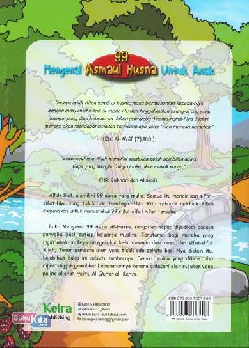 Cover Belakang Buku Mengenal 99 Asmaul Husna Untuk Anak
