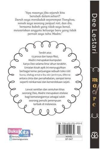 Cover Belakang Buku Madre New