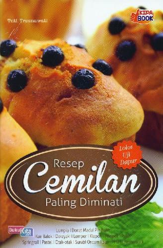 Cover Buku Resep Cemilan Paling Diminati
