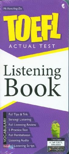Cover Toefl Actual Test Listening Book