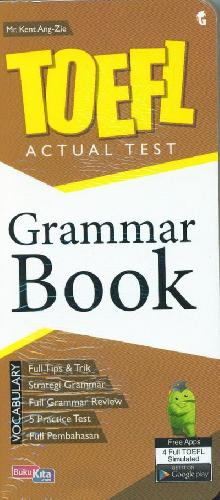 Cover Buku TOEFL ACTUAL TEST : Grammar Book