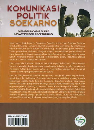 Cover Belakang Buku Komunikasi Politik Soekarno