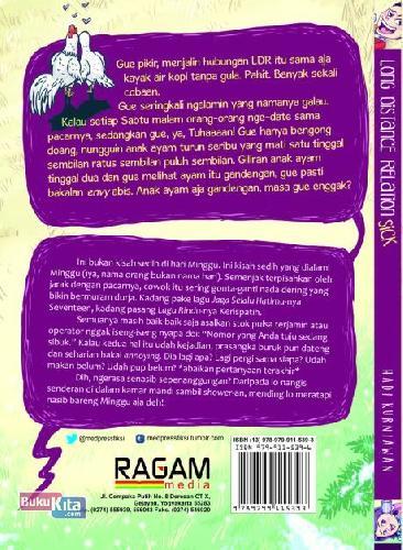 Cover Belakang Buku Long Distance Relationsick