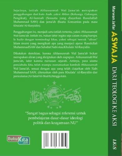 Cover Belakang Buku Aswaja Dari Teologi Ke Aksi