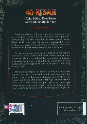 Cover Belakang Buku 40 Kisah Akhir Hidup Kezaliman Makhluk-Makhluk Allah