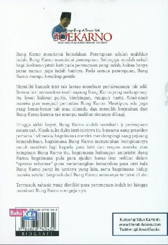 Cover Belakang Buku Bunga-Bunga di Taman Hati Soekarno - Kisah Cinta Bung Karno Dengan 9 Istrinya