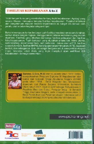 Cover Belakang Buku Fasilitas Kepabeanan A To Z Seri 2+Cd