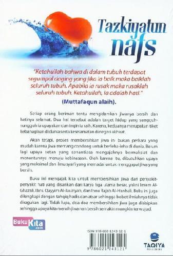Cover Belakang Buku Tazkiyatum Nafs - Belajar Membersihkan Hati