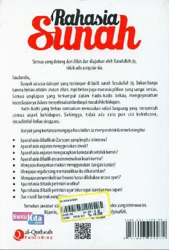 Cover Belakang Buku Rahasia Sunah : Menyingkap Hikmah Berharga dari Sunah Nabi Muhammad