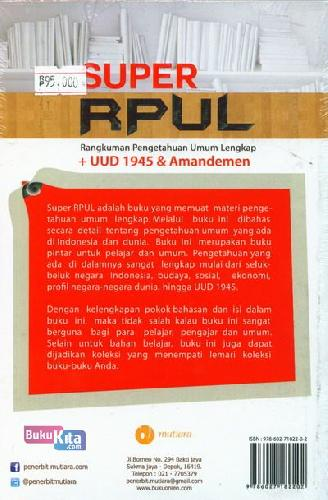 Cover Belakang Buku Super Rupl ( Full Color )