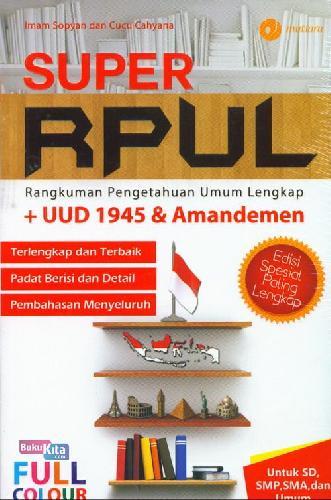 Cover Buku Super Rupl ( Full Color )