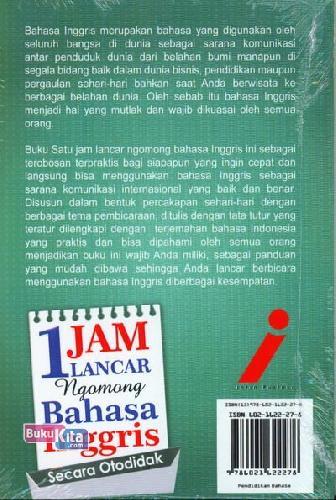 Cover Belakang Buku 1 Jam Lancar Ngomong Bahasa Inggris