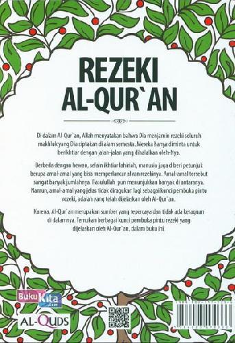 Cover Belakang Buku Rezeki Al Quran: Solusi Al Quran Untuk Yang Seret Rezeki