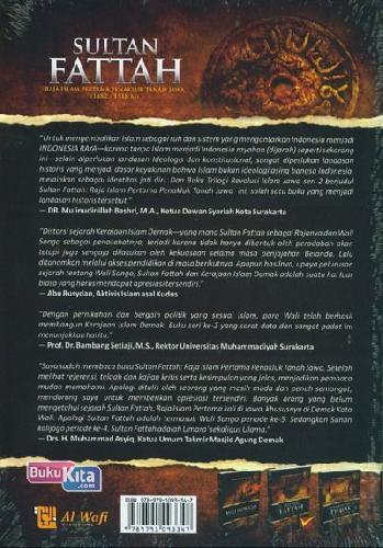 Cover Belakang Buku Sultan Fattah : Raja Islam Pertama Penakluk Tanah Jawa (1482-1518 M)