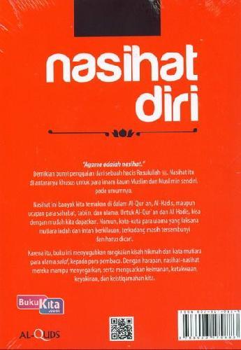 Cover Belakang Buku Nasihat Diri: 1000 Kisah Hikmah&Kata Mutiara Penyejuk Jiwa