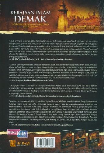 Cover Belakang Buku Kerajaan Islam DEMAK : API Revolusi Islam di Tanah Jawa