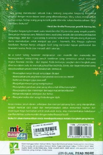 Cover Belakang Buku Be A Direct Selling Superstar