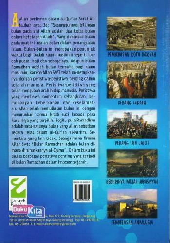 Cover Belakang Buku 100 Peristiwa Dahsyat di Bulan Ramadhan