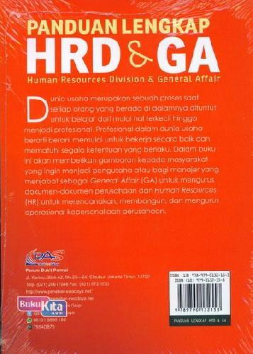 Cover Belakang Buku Panduan Lengkap Hrd&Ga+Cd
