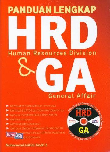 Cover Buku Panduan Lengkap Hrd&Ga+Cd