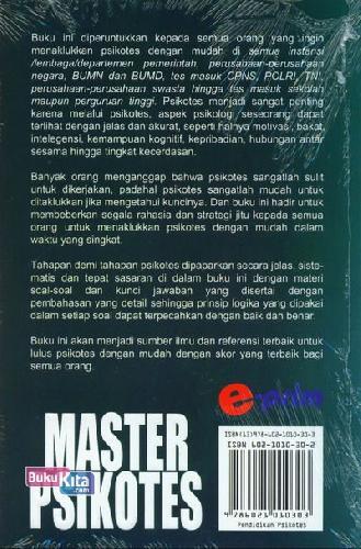 Cover Belakang Buku Master Psikotes