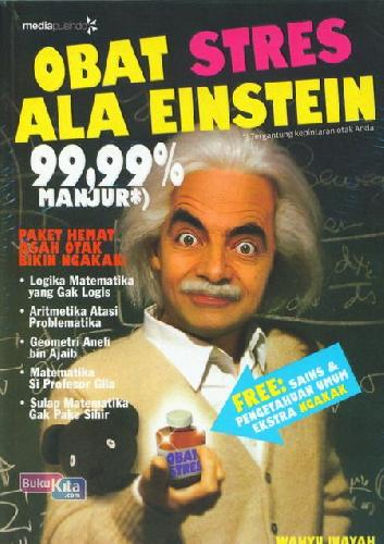 Cover Buku Obat Stres Ala Einstein 99,99% Manjur