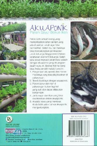 Cover Belakang Buku Akuaponik: Panen Sayur Bonus Ikan