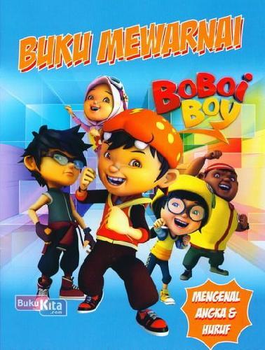 Cover Belakang Buku Buku Mewarnai Boboi Boy
