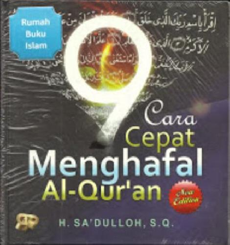 Cover Buku 9 Cara Cepat Menghafal Al-Qur`an