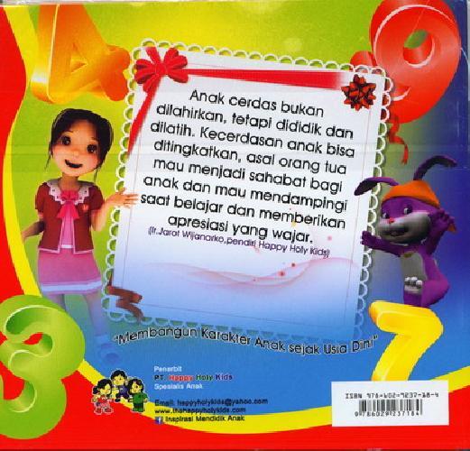 Cover Belakang Buku Mengenal Angka PG/PAUD Semester 2