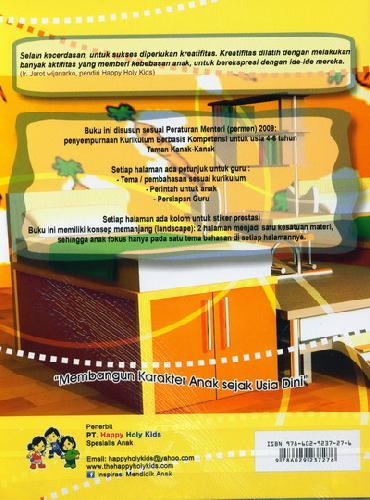 Cover Belakang Buku Menarik Garis TK B semester 2