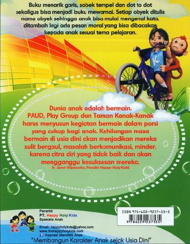 Cover Belakang Buku Menarik Garis & Mewarnai TK B semester 1