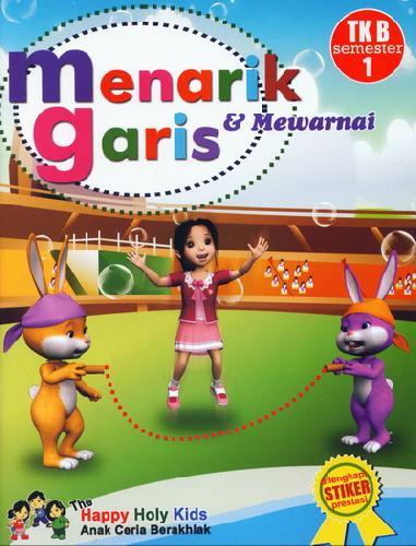 Cover Buku Menarik Garis & Mewarnai TK B semester 1