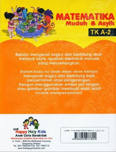 Cover Belakang Buku Matematika Mudah & Asyik TK A-2
