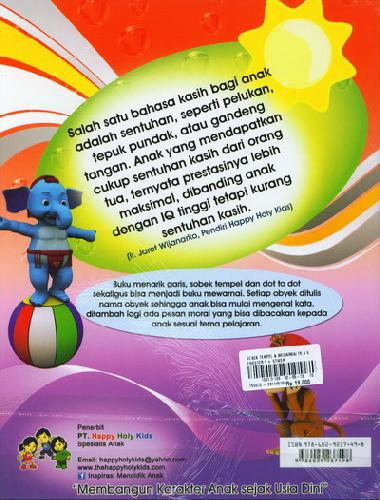 Cover Belakang Buku Buku Sobek Tempel TK A semester 1