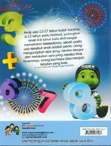 Cover Belakang Buku Pandai Matematika TK A semester 1