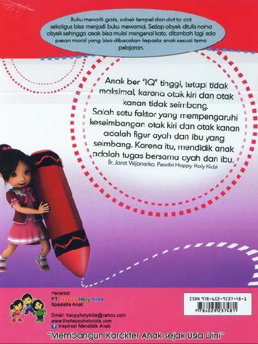 Cover Belakang Buku Menarik Garis dan Mewarnai TK A semester 1
