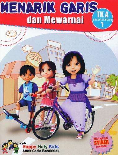 Cover Buku Menarik Garis dan Mewarnai TK A semester 1