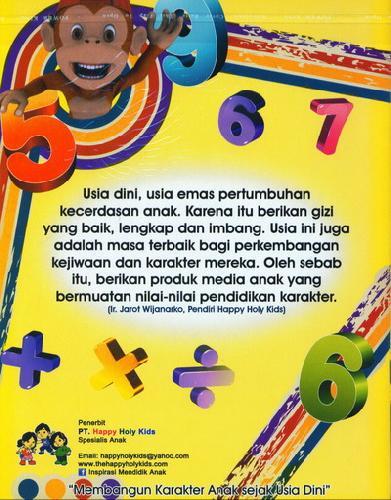 Cover Belakang Buku Pandai Matematika TK B semester 1