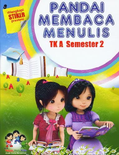 Cover Buku Pandai Membaca dan Menulis TK A Semester 2