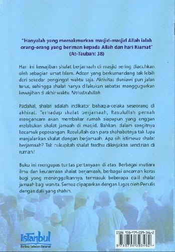 Cover Belakang Buku Fadhilah Shalat Berjamaah