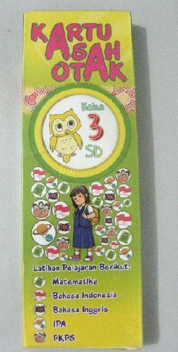 Cover Buku Kartu Asah Otak Kelas 3 SD