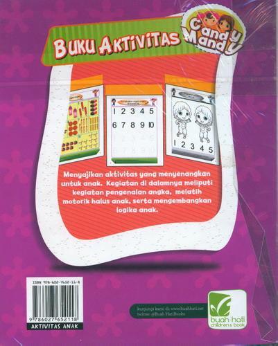 Cover Belakang Buku Buku Aktivitas 123 Candy Mandy