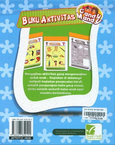 Cover Belakang Buku Buku Aktivitas ABC Candy Mandy