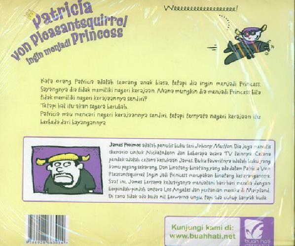 Cover Belakang Buku Patricia Von Pleasantsquirrel Ingin Menjadi Princess